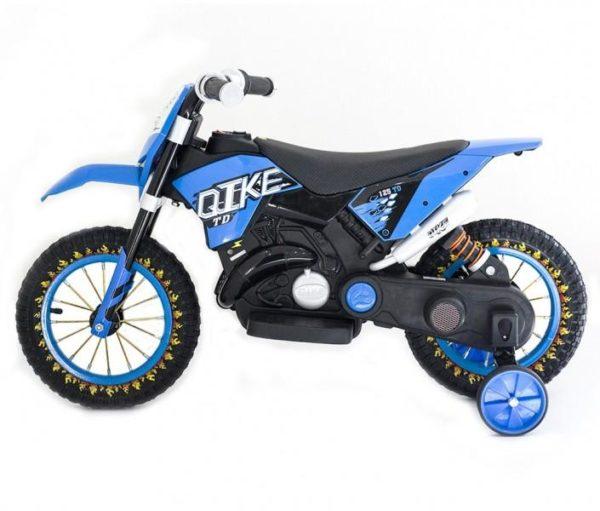 Детский кроссовый электромотоцикл Qike TD Blue