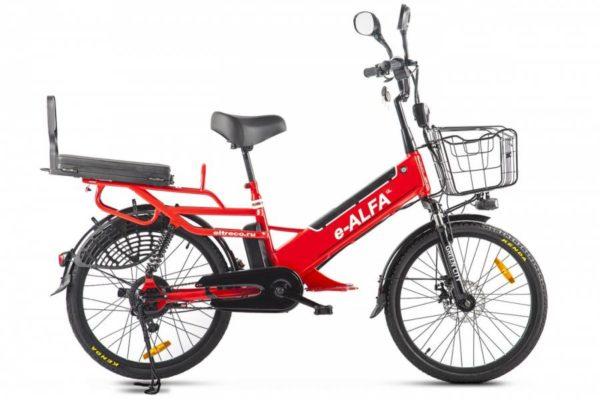 Велогибрид Green City e-ALFA GL Красный