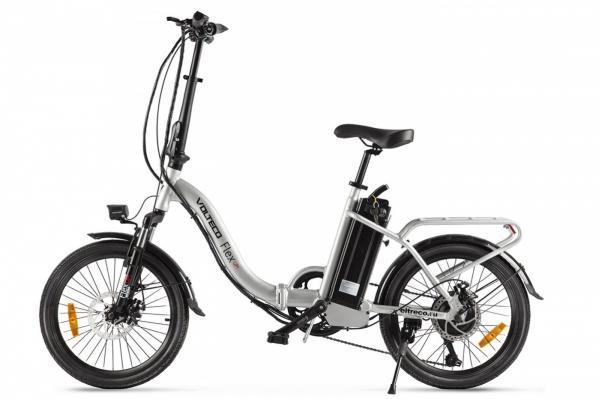 Велогибрид Volteco FLEX UP! Серебристый