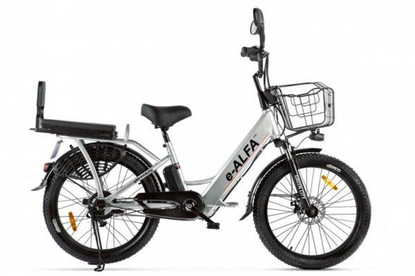 Велогибрид Green City e-ALFA Fat Голубой