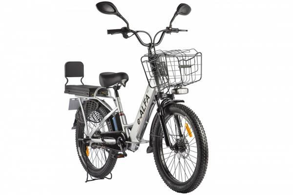 Велогибрид Green City e-ALFA Fat Серебристый