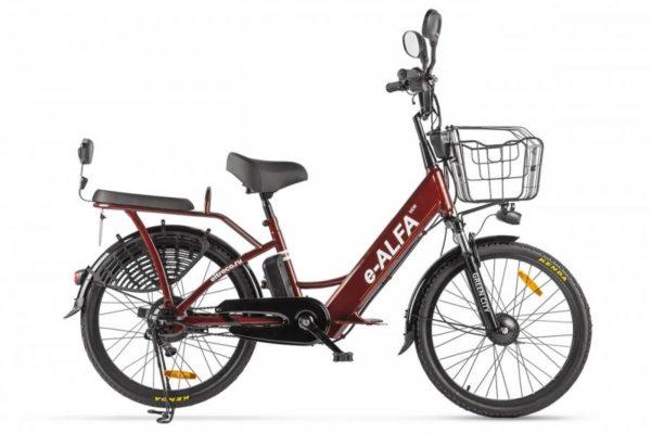 Велогибрид Green City e-ALFA new Коричневый