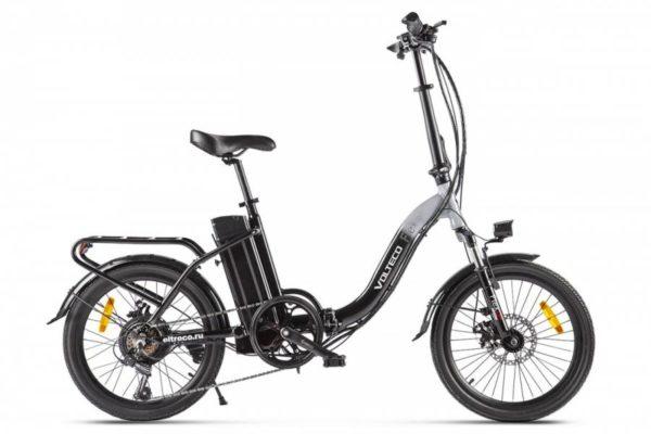 Велогибрид Volteco FLEX UP! Черно-серый