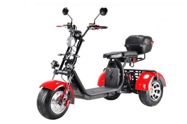 Электроскутер Citycoco WS-PRO Trike Plus 3000W 20Ah Красный
