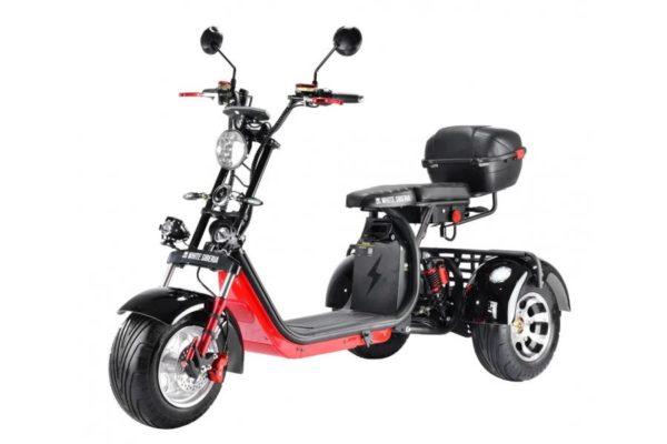 Электроскутер Citycoco WS-PRO Trike Plus 3000W Черный